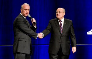 Rudy Guiliani and Bob Paff